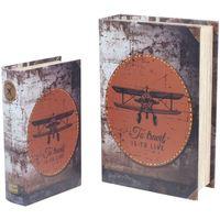 Σπίτι Κουτιά αποθήκευσης Signes Grimalt Κουτιά Ρετρό 2U Χαρτί Αεροπλάνο Multicolor