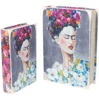 Σπίτι Κουτιά αποθήκευσης Signes Grimalt Βιβλίο Frida 2U Κουτιά Τον Σεπτέμβριο Multicolor