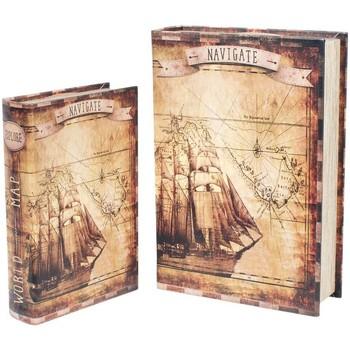Σπίτι Κουτιά αποθήκευσης Signes Grimalt Βιβλίο Σκάφος 2U Κουτιά Τον Σεπτέμβριο Marrón