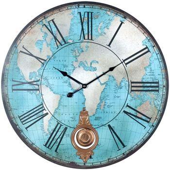 Σπίτι Ρολόγια τοίχου Signes Grimalt Παγκόσμιο Ρολόι Τοίχου Azul