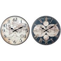 Σπίτι Ρολόγια τοίχου Signes Grimalt Παγκόσμιο Ρολόι Τοίχου Set 2U Negro