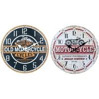 Σπίτι Ρολόγια τοίχου Signes Grimalt Ρολόι Τοίχου Μοτοσικλέτας Set 2U Multicolor