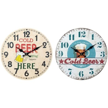 Σπίτι Ρολόγια τοίχου Signes Grimalt Ρολόι Τοίχου Μπύρας Set 2U Multicolor