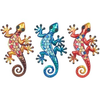 Σπίτι Αγαλματίδια και  Signes Grimalt Γυαλί Lizard 3U Multicolor