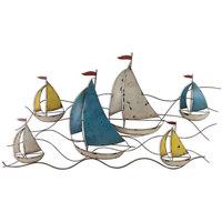 Σπίτι Αγαλματίδια και  Signes Grimalt Στολίδι Τοίχου Σκάφους Multicolor
