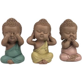Σπίτι Αγαλματίδια και  Signes Grimalt Linda Buddha Set 3 Μονάδες Multicolor