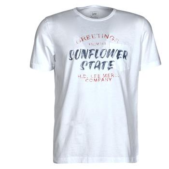 Υφασμάτινα Άνδρας T-shirt με κοντά μανίκια Lee SS POSTER TEE Άσπρο