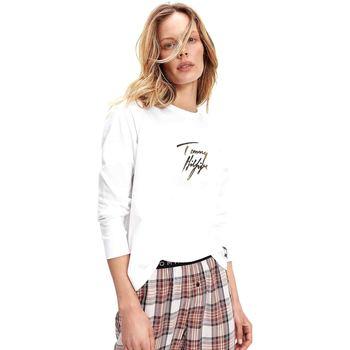 Υφασμάτινα Γυναίκα Μπλουζάκια με μακριά μανίκια Tommy Hilfiger UW0UW02552 λευκό