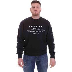 Υφασμάτινα Άνδρας Φούτερ Replay M3336 .000.22738G Μαύρος