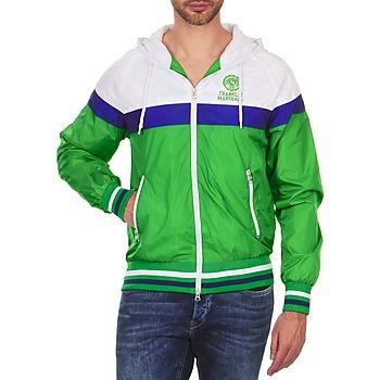Υφασμάτινα Άνδρας Μπουφάν Franklin & Marshall MELBOURNE Green / άσπρο / μπλέ