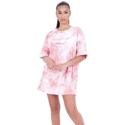 Υφασμάτινα Γυναίκα Κοντά Φορέματα Sixth June Robe femme  Tie and dye rose