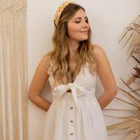 Υφασμάτινα Γυναίκα Μακριά Φορέματα Céleste CAMOMILLE Άσπρο