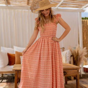 Υφασμάτινα Γυναίκα Μακριά Φορέματα Céleste AURORE Ροζ