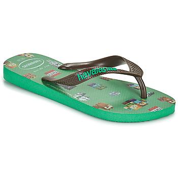 Παπούτσια Αγόρι Σαγιονάρες Havaianas KIDS MINECRAFT Green