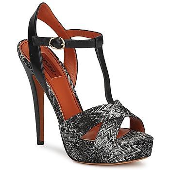 Παπούτσια Γυναίκα Σανδάλια / Πέδιλα Missoni VM034 Black / Άσπρο