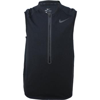 Υφασμάτινα Άνδρας Σπορ Ζακέτες Nike Dry Vest Qz Hybd Hypr Μαύρος