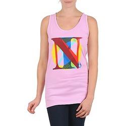 Υφασμάτινα Γυναίκα Αμάνικα / T-shirts χωρίς μανίκια Nixon PACIFIC TANK ροζ / Multicolore