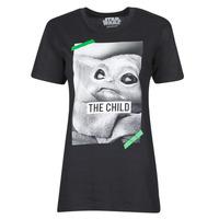 Υφασμάτινα T-shirt με κοντά μανίκια Yurban OUFIMM Black