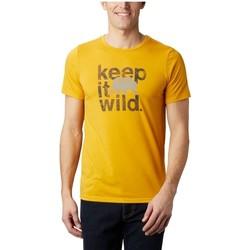 Υφασμάτινα Άνδρας T-shirt με κοντά μανίκια Columbia Terra Vale II SS Tee Jaune