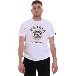 Υφασμάτινα Άνδρας T-shirt με κοντά μανίκια Caterpillar 35CC301 λευκό