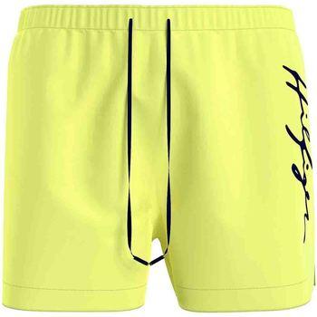 Υφασμάτινα Άνδρας Μαγιώ / shorts για την παραλία Tommy Hilfiger UM0UM02060 Κίτρινος