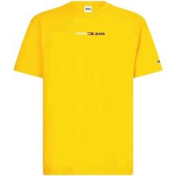 Υφασμάτινα Άνδρας T-shirts & Μπλούζες Tommy Jeans DM0DM10219 Κίτρινος