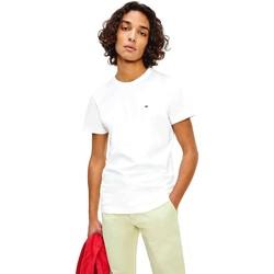 Υφασμάτινα Άνδρας T-shirt με κοντά μανίκια Tommy Jeans DM0DM10705 λευκό