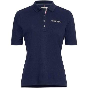 Υφασμάτινα Γυναίκα T-shirts & Μπλούζες Tommy Hilfiger WW0WW30398 Μπλε