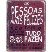 Σπίτι Πίνακες Signes Grimalt Πλάκα Τοίχου Pessoas Felizes Rojo