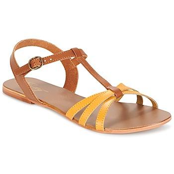 Παπούτσια Γυναίκα Σανδάλια / Πέδιλα Betty London IXADOL Yellow / Camel