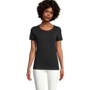 Υφασμάτινα Γυναίκα T-shirt με κοντά μανίκια Sols LUCAS WOME Negro profundo