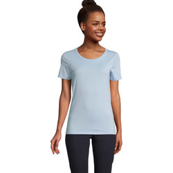 Υφασμάτινα Γυναίκα T-shirt με κοντά μανίκια Sols LUCAS WOME Azul claro
