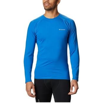 Υφασμάτινα Άνδρας Μπλουζάκια με μακριά μανίκια Columbia Omni Heat 3D Knit Crew II Bleu