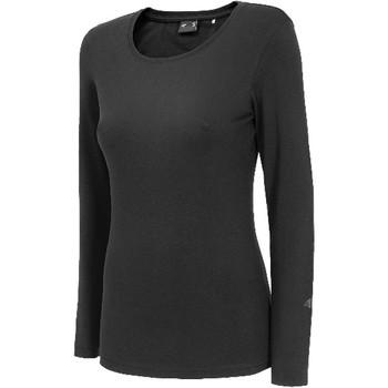 Υφασμάτινα Γυναίκα Μπλουζάκια με μακριά μανίκια 4F Women's Longsleeve Noir