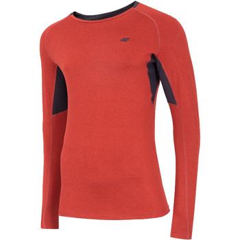 Υφασμάτινα Άνδρας Μπλουζάκια με μακριά μανίκια 4F Men's Functional Longsleeve Rouge