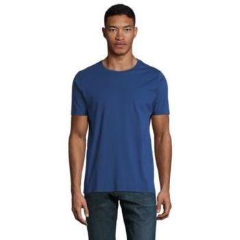 Υφασμάτινα Άνδρας T-shirt με κοντά μανίκια Sols LUCAS MEN Azul oscuro