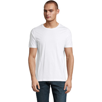Υφασμάτινα Άνδρας T-shirt με κοντά μανίκια Sols LUCAS MEN Blanco óptimo