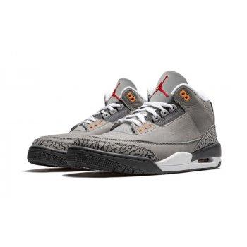Παπούτσια Χαμηλά Sneakers Nike Air Jordan 3 Cool Grey Silver/Light Graphite-Orange Peel-Sport Red