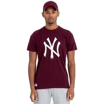 Υφασμάτινα Άνδρας T-shirt με κοντά μανίκια New-Era Team Logo New York Yankees καφέ