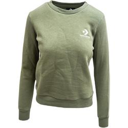 Υφασμάτινα Γυναίκα Σπορ Ζακέτες Converse Chevron Embroidered Crew Πράσινος