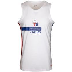 Υφασμάτινα Άνδρας Αμάνικα / T-shirts χωρίς μανίκια New-Era Nba Philadelphia 76ERS άσπρο