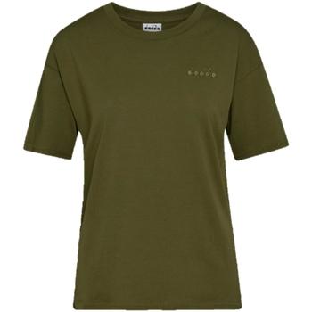 Υφασμάτινα Γυναίκα T-shirt με κοντά μανίκια Diadora Chromia Oc Πράσινος