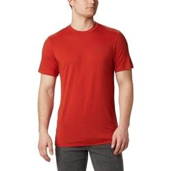 Υφασμάτινα Άνδρας T-shirt με κοντά μανίκια Columbia Maxtrail Logo το κόκκινο