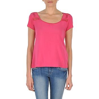 Υφασμάτινα Γυναίκα T-shirt με κοντά μανίκια DDP NOWI Ροζ