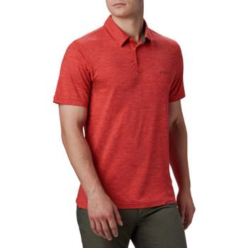Υφασμάτινα Άνδρας Πόλο με κοντά μανίκια  Columbia Tech Trail Polo Shirt Rouge
