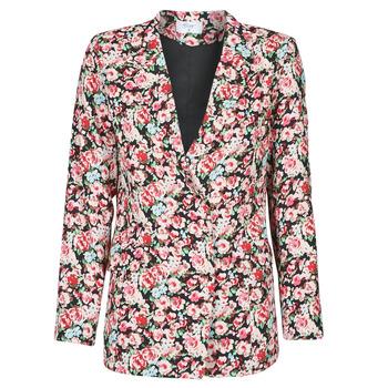 Υφασμάτινα Γυναίκα Σακάκι / Blazers Betty London OBIMBA Black / Ροζ