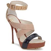 Παπούτσια Γυναίκα Σανδάλια / Πέδιλα John Galliano AN6363 ροζ / MARINE / Beige