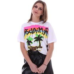 Υφασμάτινα Γυναίκα T-shirt με κοντά μανίκια Disclaimer 21EDS50632 λευκό