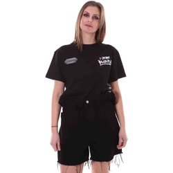 Υφασμάτινα Γυναίκα T-shirt με κοντά μανίκια Disclaimer 21EDS50642 Μαύρος