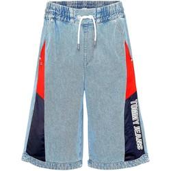 Υφασμάτινα Γυναίκα Σόρτς / Βερμούδες Tommy Jeans DW0DW10093 Μπλε